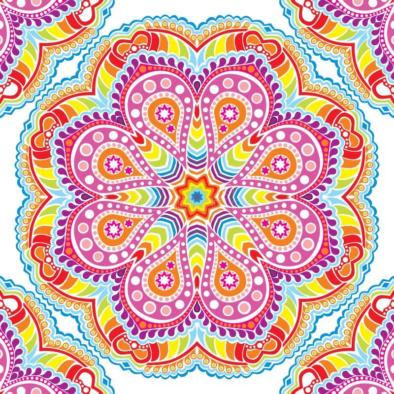 caleidoscopisch bloemenpatroon, mandala stock illustratie