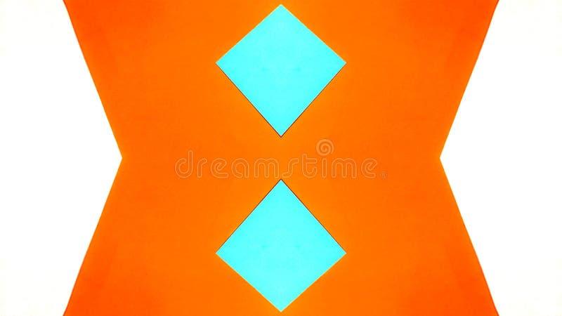 Caleidoscopische illustratie van gekleurde documenten royalty-vrije illustratie
