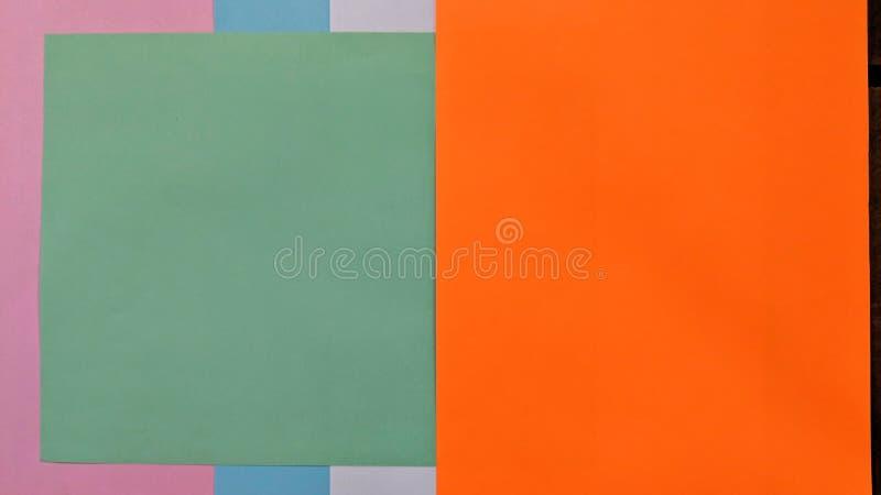 Caleidoscopische illustratie van gekleurde documenten vector illustratie