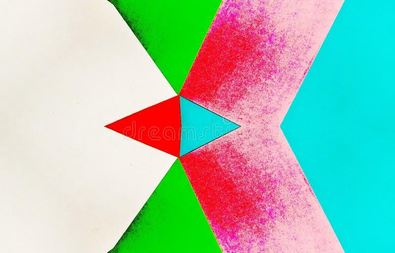 Caleidoscopische illustratie van gekleurde documenten wijnoogst stock illustratie