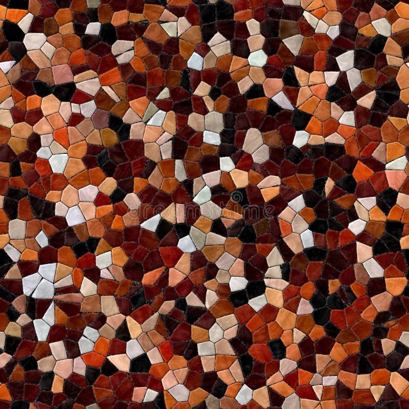 Caleidoscopische naadloze geproduceerde de hurentextuur van het glasmozaïek stock afbeeldingen