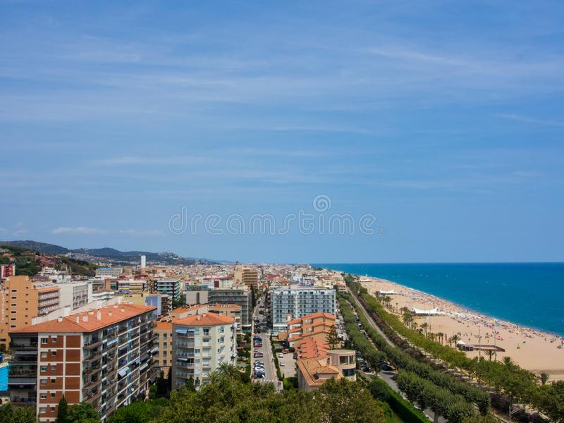 Calella Cityscape, Spain stock photography