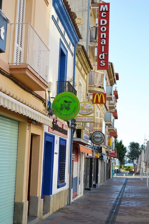 Calella, Costa-Brava Beach. Editorial Stock Photo