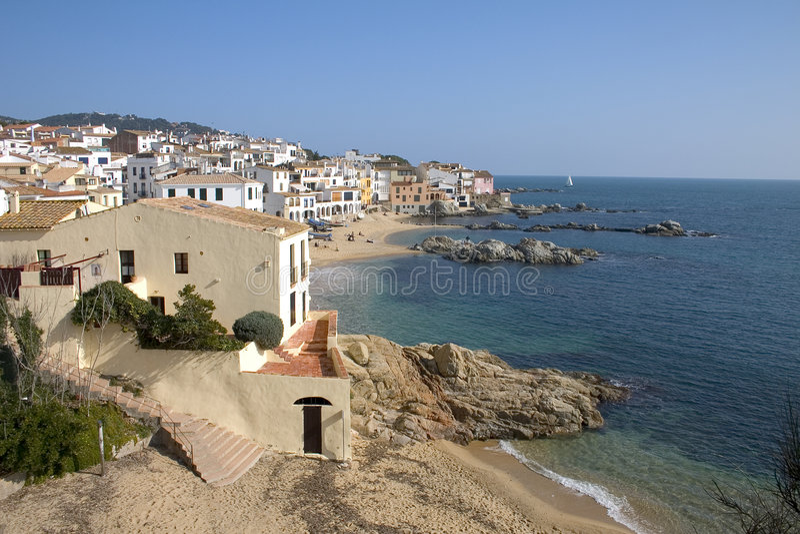 Calella de Palafrugell, Catalonia, Spain royalty free stock photography
