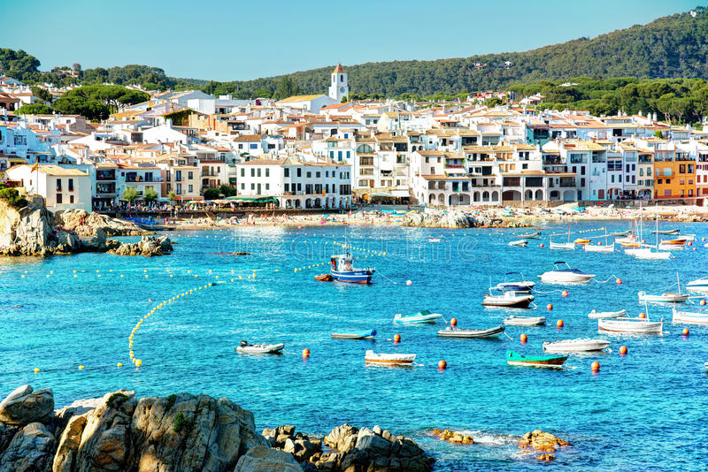 Calella de Palafrugell, Costa Brava, Catalogna, Spagna fotografie stock