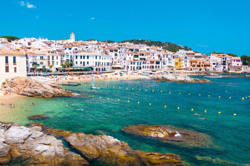 Calella de Palafrugell, Costa Brava, Catalonia, Spain. stock photos