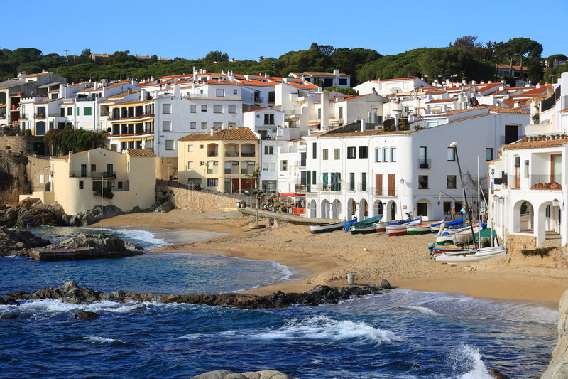 Calella de Palafrugell (costela Brava, Spain) imagem de stock royalty free