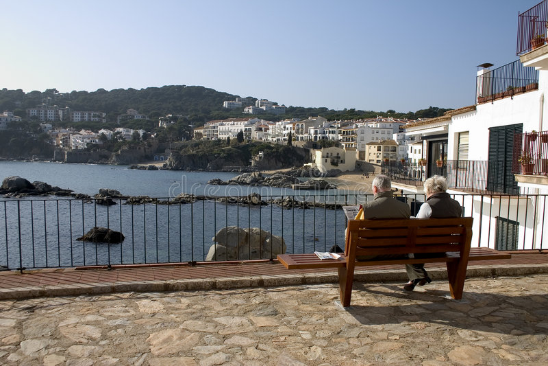 calella de Palafrugell Katalonii Hiszpanii obrazy stock