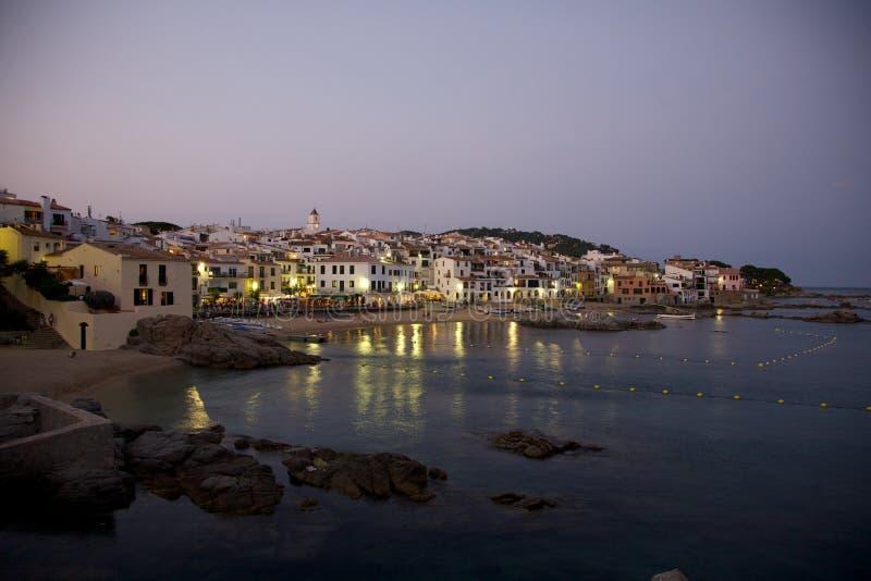 Calella Palafrugell τη νύχτα στοκ φωτογραφίες με δικαίωμα ελεύθερης χρήσης