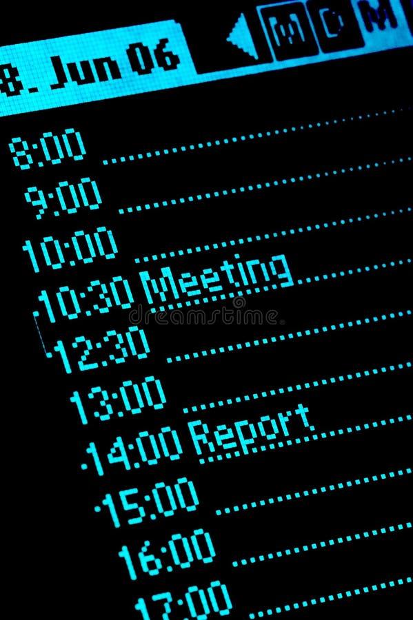 Calendário 01 imagem de stock