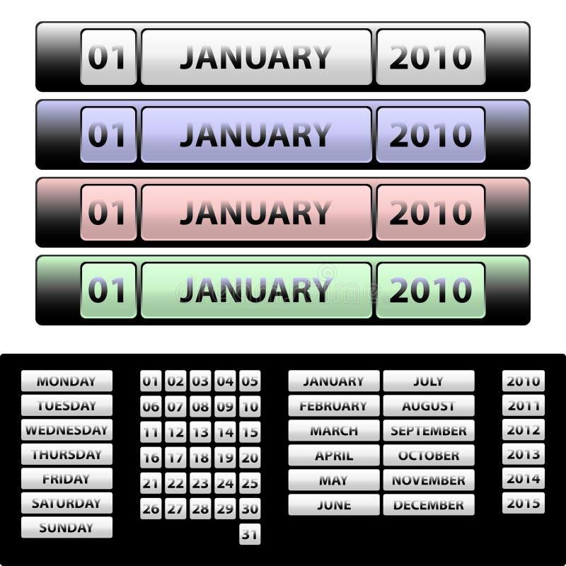 Calendário ilustração stock