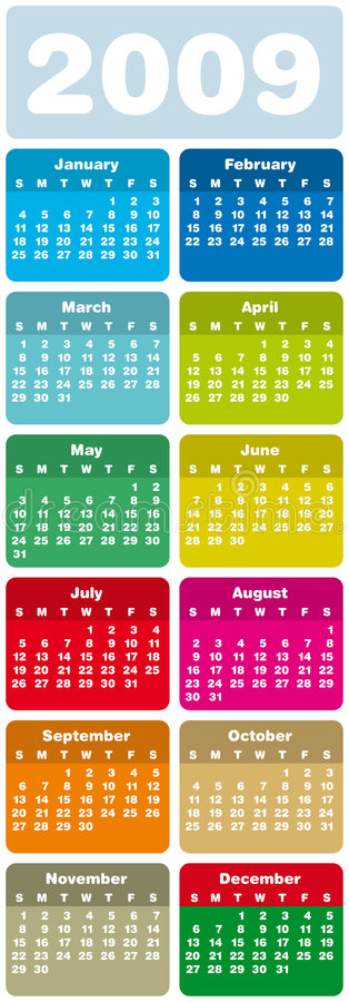 Calendário 2009 ilustração do vetor