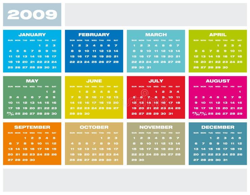 Calendário 2009. ilustração stock