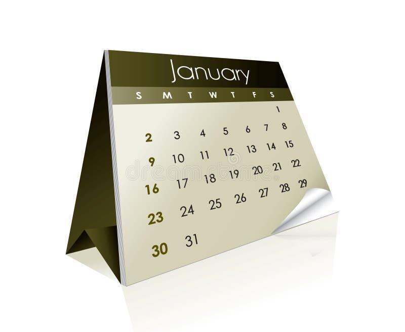 Calendário 2011 ilustração do vetor