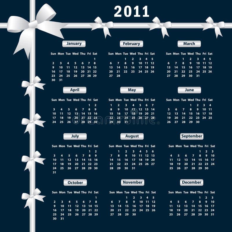 Calendário 2011 com curvas ilustração royalty free