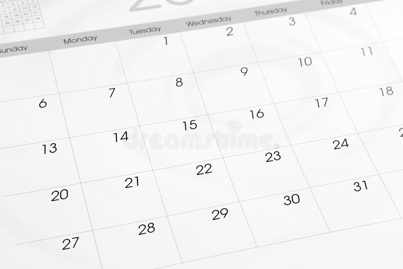calendário fotos de stock royalty free