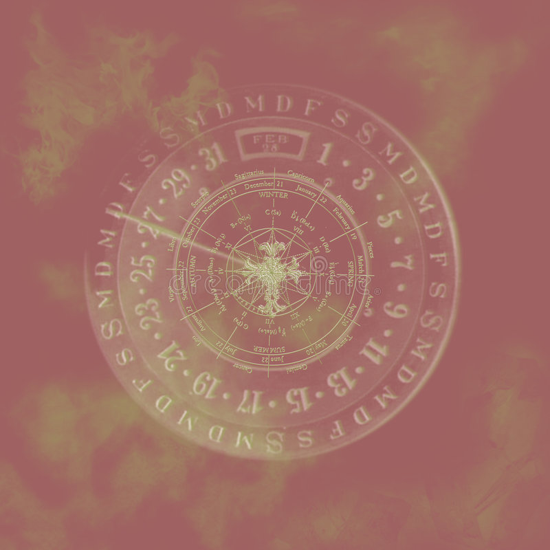 Calendário abstrato do zodíaco. ilustração do vetor