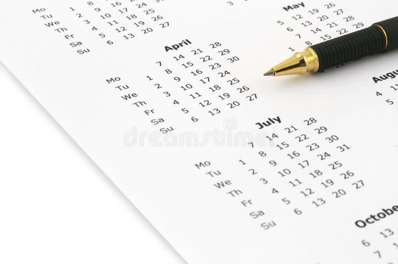 Calendário anual fotos de stock