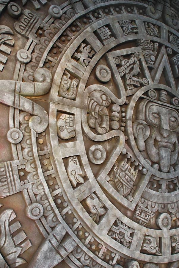 Calendário asteca antigo fotografia de stock