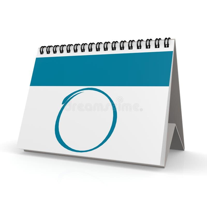 Calendário azul em branco ilustração royalty free