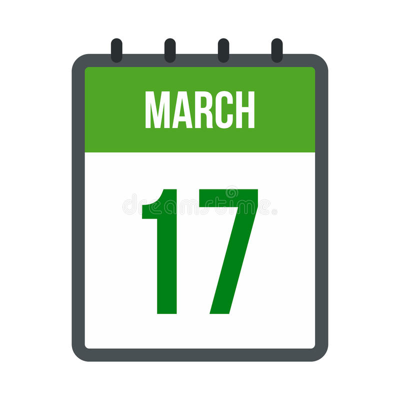 Calendário com ícone da data de dia do St Patricks ilustração royalty free
