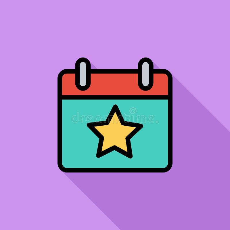 Calendário com estrela ilustração stock