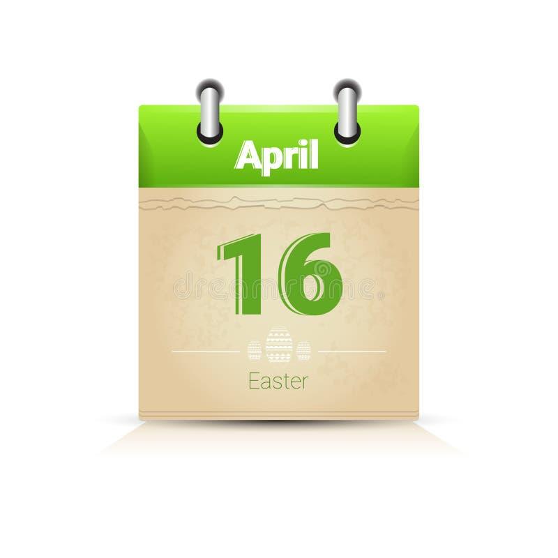 Download Calendário Data Página Páscoa Feriado O 16 De Abril Ilustração do Vetor - Ilustração de colorido, ilustração: 80101880