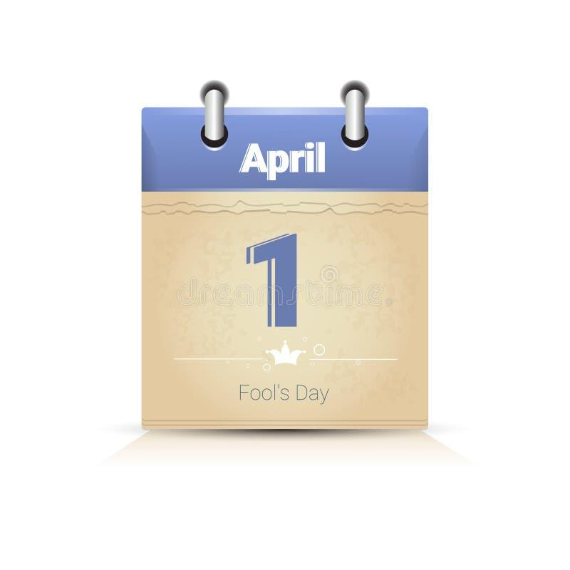 Download Calendário Data Página Tolo Dia O 1º De Abril Ilustração do Vetor - Ilustração de projeto, alegria: 80101864