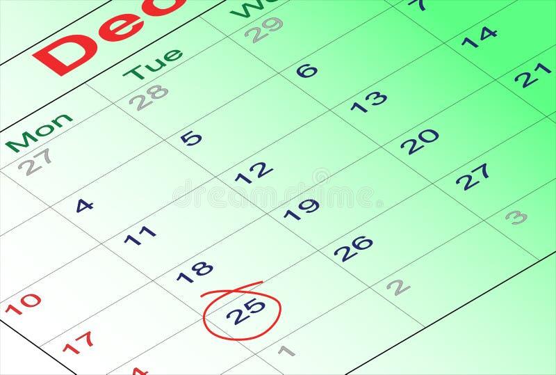 Calendário de dezembro 2012 foto de stock royalty free