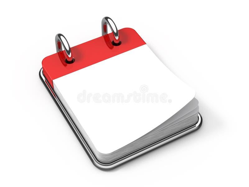 Calendário de mesa em branco no branco ilustração royalty free