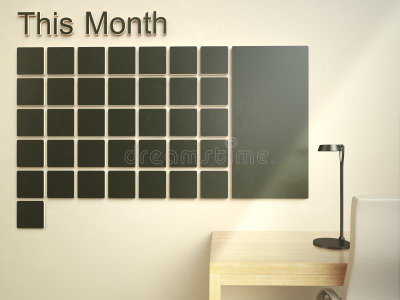 Calendário de parede Conceito do organizador da gestão do memorando da programação imagens de stock royalty free