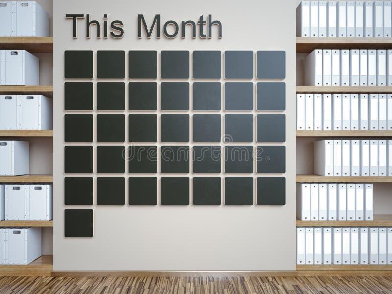 Calendário de parede Conceito do organizador da gestão do memorando da programação foto de stock