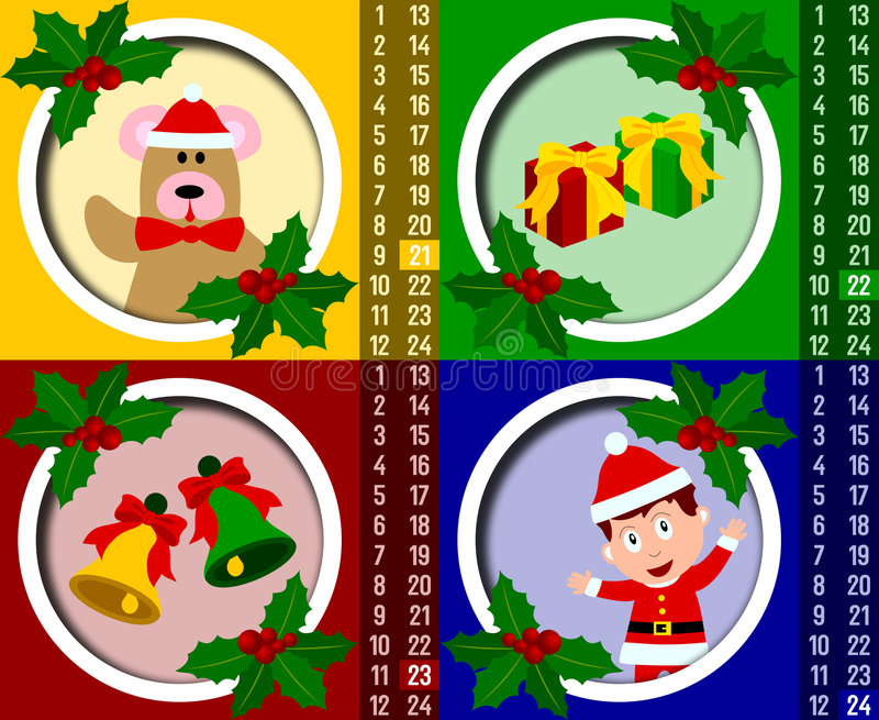 Calendário do advento do Natal [6] ilustração do vetor