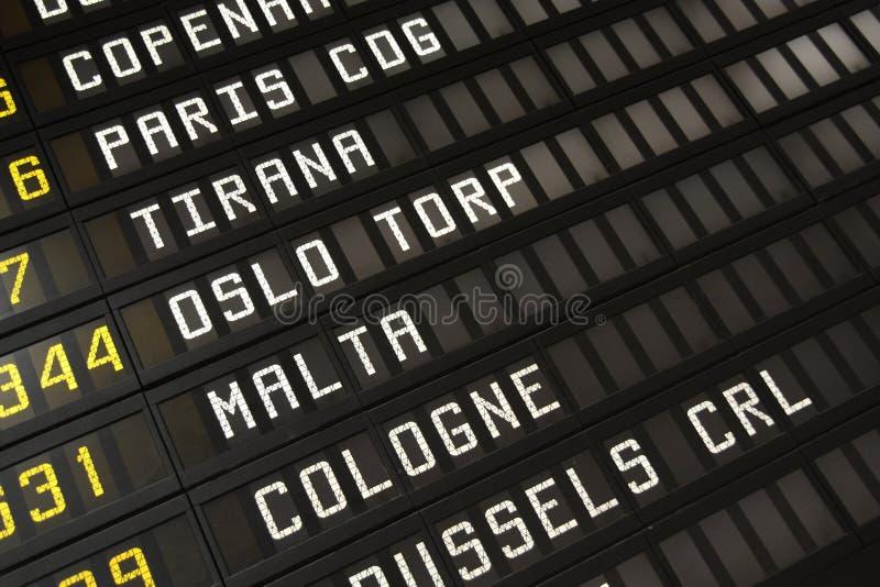 Calendário do aeroporto fotografia de stock royalty free