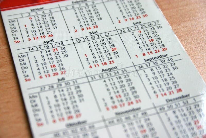 Calendário do bolso fotos de stock royalty free