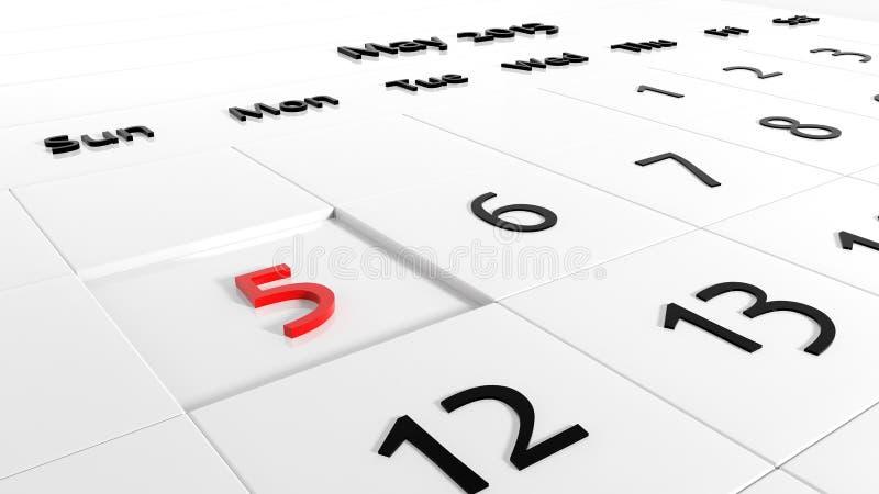 Calendário do feriado ilustração stock