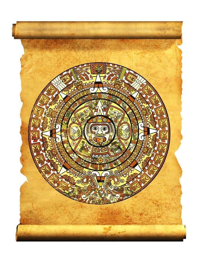 Calendário do Maya ilustração royalty free