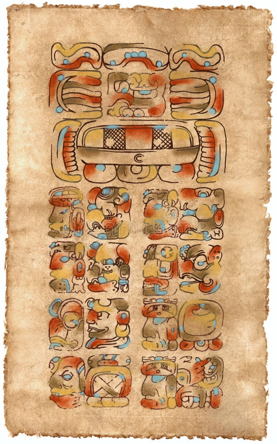 Calendário do Maya; Maio 5, 2002 fotos de stock