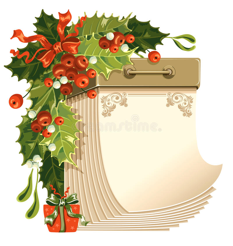 Calendário do Natal ilustração stock