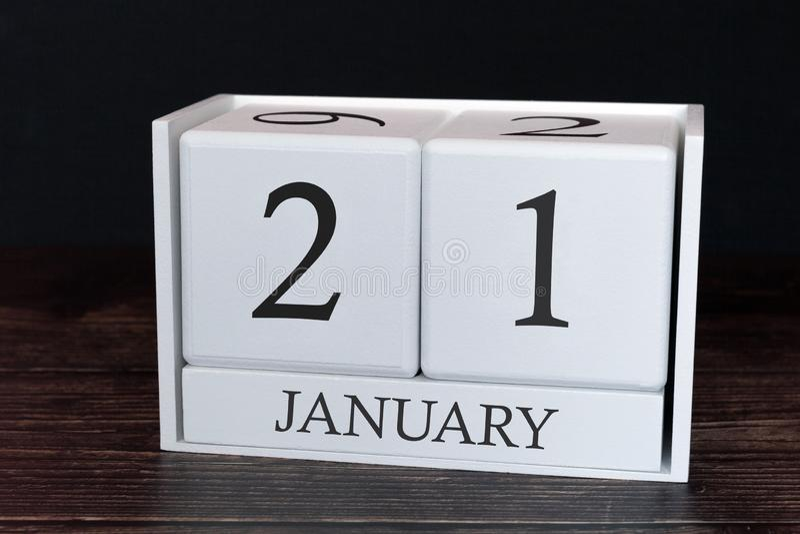 Calendário do negócio para janeiro, 2ø dia do mês Data do organizador do planejador ou conceito da programação dos eventos fotos de stock