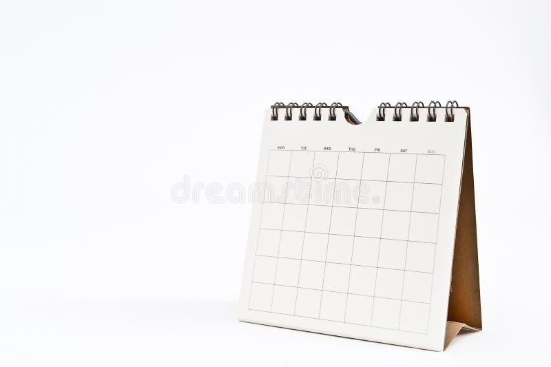Calendário em branco isolado no branco imagem de stock