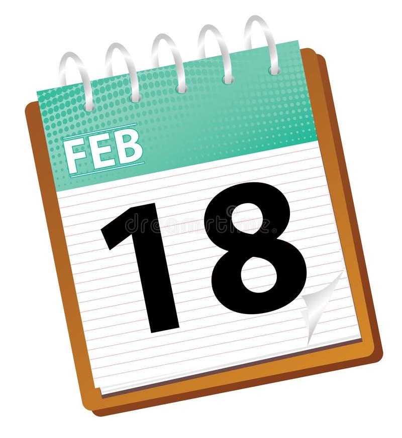 Calendário fevereiro ilustração stock