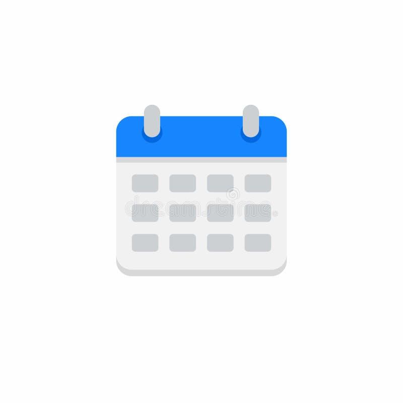 Calendário, nenhum fundo, vetor, ícone liso ilustração royalty free