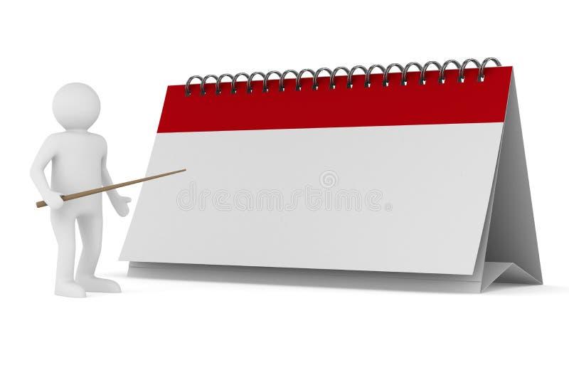 Calendário no fundo branco ilustração royalty free