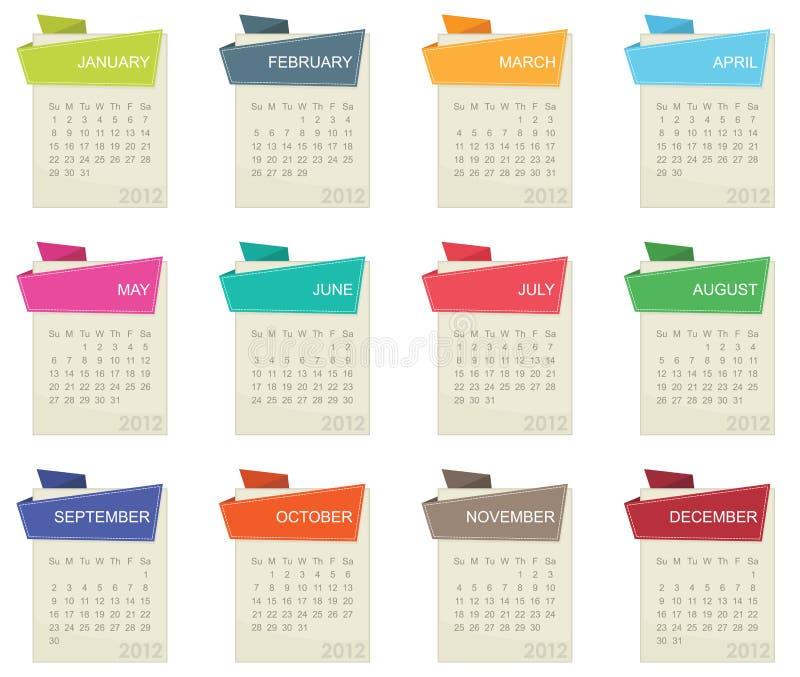 Calendário para 2012 ilustração do vetor