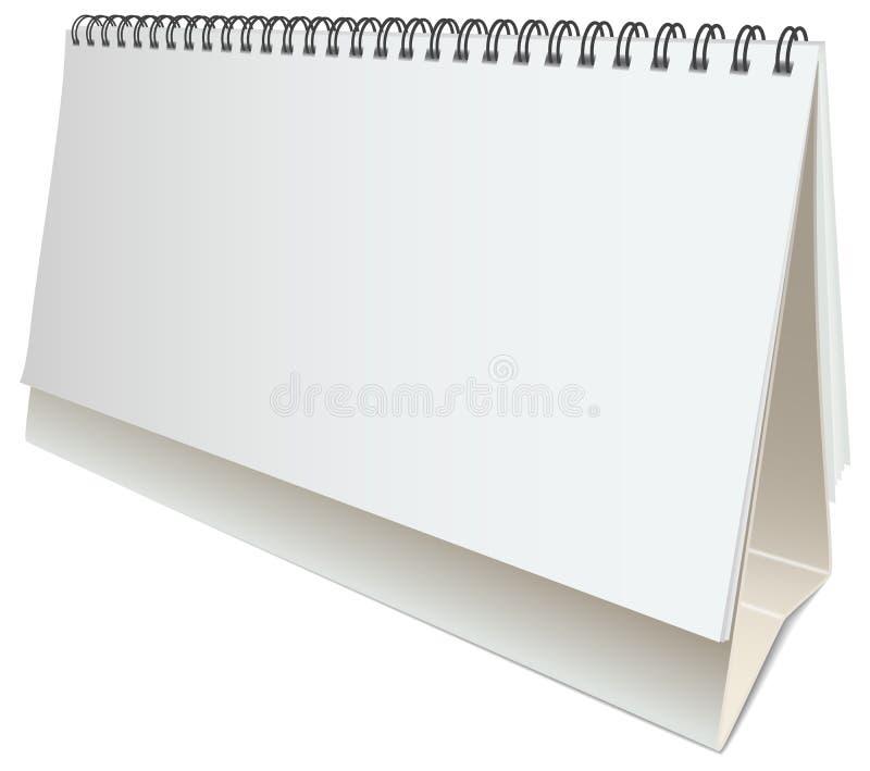 Calendário vazio do desktop do vetor ilustração royalty free