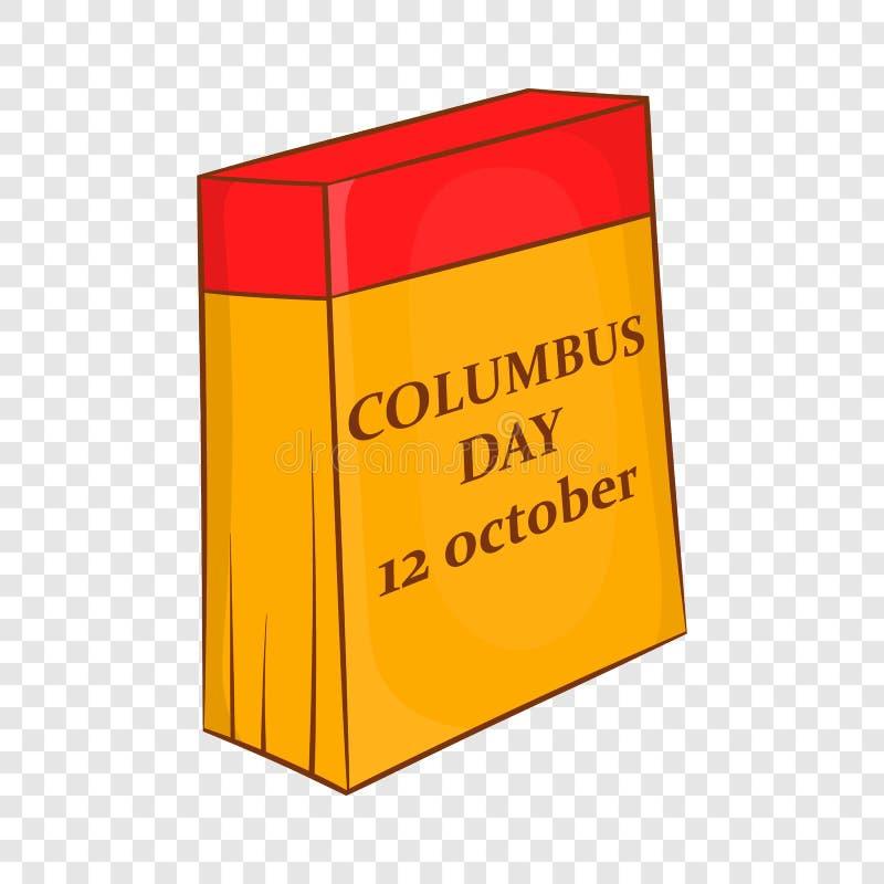 Calend?rio de Columbus Day, o 12 de outubro ?cone ilustração do vetor