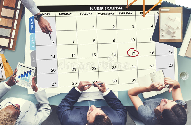 Calenda Agenda Day Deadline Event Meeting Concept.  royalty free stock images