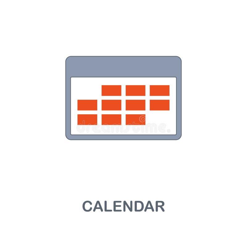 calendar икона Наградной дизайн стиля 2 цветов от контакта мы собрание значков Значок календаря пиксела идеальный для сети иллюстрация штока