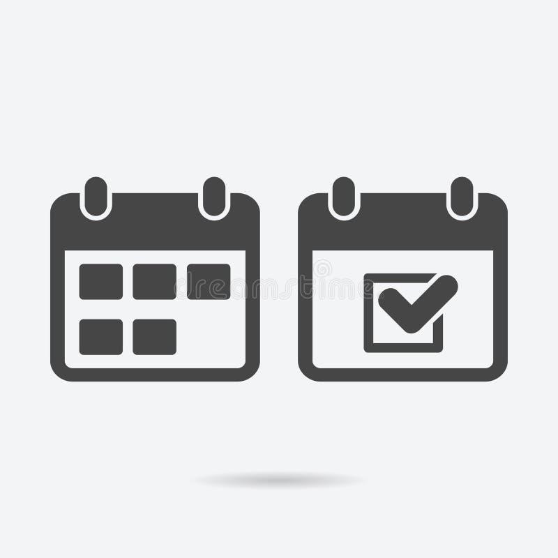 calendar икона Черная иллюстрация вектора бесплатная иллюстрация